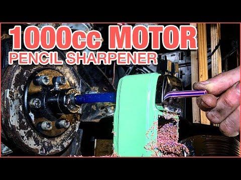 1000cc ENGINE PENCIL SHARPENER!