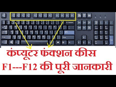 What are the uses of Function Keys F1 to F12 of the Keyboard ?