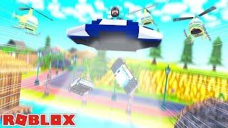 ALIEN UFO ABDUCTS THE COPS!! | ROBLOX JAILBREAK