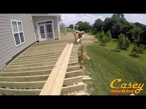 Curved Deck Framing - Casey Fence and Deck