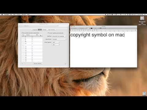 copyright symbol on mac