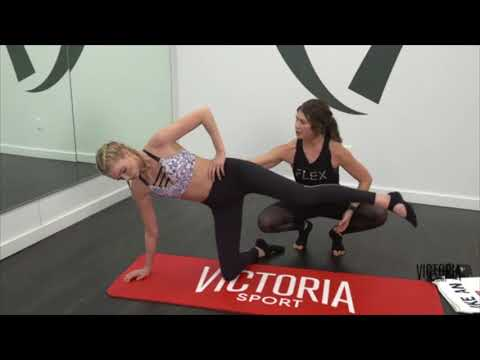 Victoria's Secret Train Like An Angel: Elsa Hosk + Kim from InStyle at Flex Studios - Full Workout