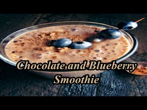 Blueberry Smoothie Without Yogurt - Chocolate and Blueberry Smoothie