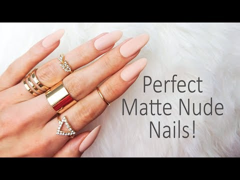 Super easy Express Nail Extensions in Matte Nude ❤️ using Smartglam Nails (press on nails)