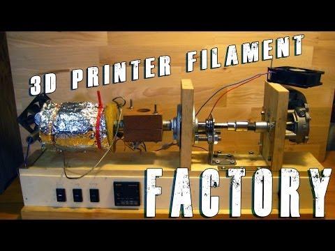 DIY Filament Extruder for 3D printer first test run !