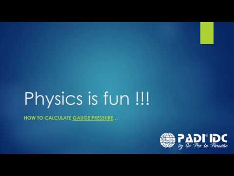 PADI IDC Dive Theory: Physics - Gauge pressure
