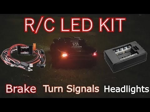 How to Install an R/C Car LED Light Kit / R/C Car Lights (Turn Signals, Brake, Headlights)
