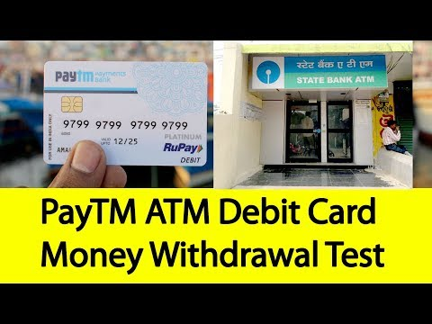 PayTM ATM Card Money Withdrawal Testing | Tamil Banking