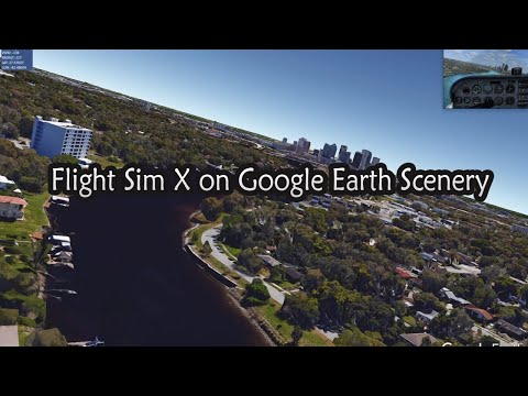 Microsoft FSX using Google Earth 3D Scenery Tampa Tour