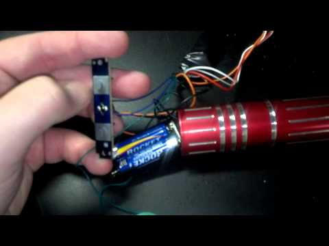 Ultrasaber Lightsaber Modification with a Hasbro Force FX Sound Board