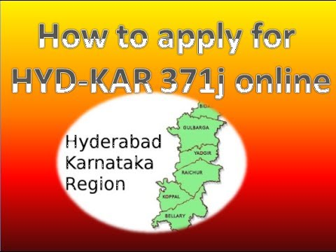 Hydrabad-karnataka 371j: How to get/apply for certificate online.
