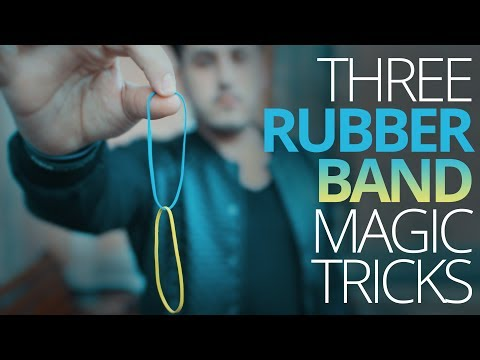 3 Amazing Rubber Band Tricks ● MAGIC TUTORIAL