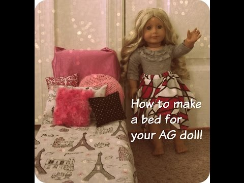 How to make 4 different beds for your AG Doll!! {EASY}