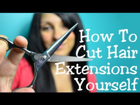 How To Cut & Trim Hair Extensions Yourself | Instant Beauty ♡