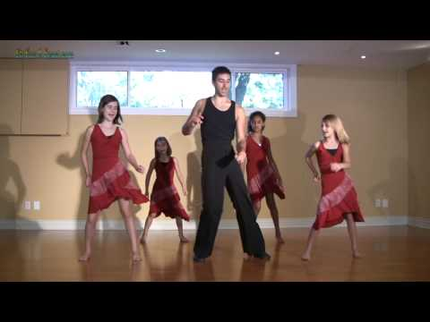 Salsa Basic Dance Step - learn  Latin Salsa Dance Lessons for kids salsa dancing