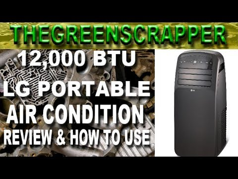 LG Electronics LP1215GXR 12,000 BTU Portable Air Conditioner  AC REVIEW UNBOXING HOW TO USE A/C