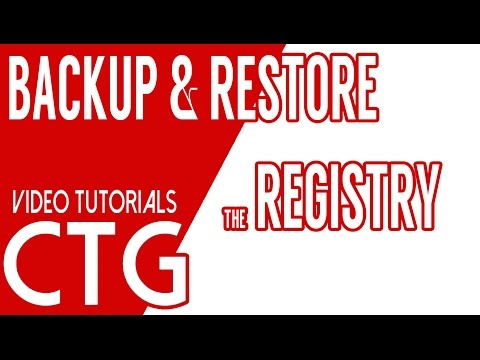 Windows Registry Backup and Recovery for Windows 7, 8, and 10
