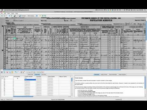 Go Vertical when indexing a US Census Record