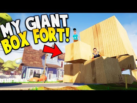 MY GIANT BOX FORT IS BIGGER THAN THE NEIGHBORS HOUSE! | Hello Neighbor Gameplay
