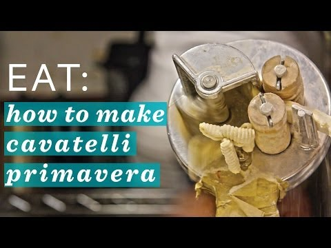 How to Make Pasta : Cavatelli Primavera