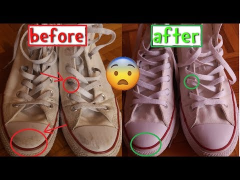 CLEAN, WHITEN AND RESTORE WHITE CANVAS SHOES! (without bleach)