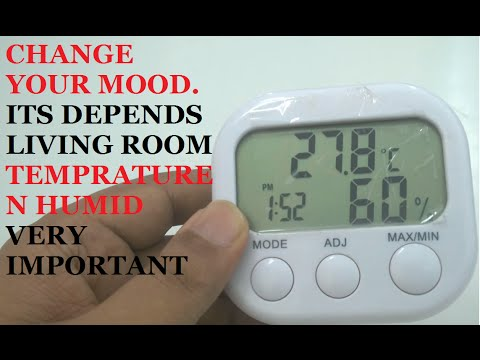 ROOM TEMPERATURE N HUMID CHANGES N EFFECT OUR MOOD
