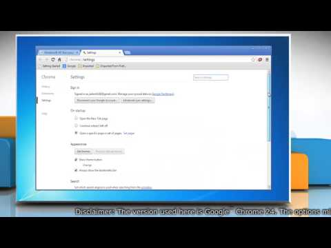 How to set default search engine in Google™ Chrome on Windows® 7