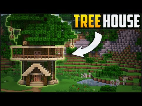 Minecraft: How To Build A Tree House Tutorial (EASY!)