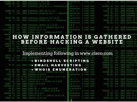 How information is gathered before hacking a website