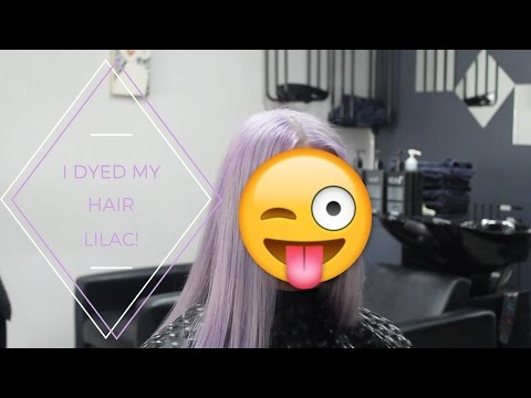 I DYED MY HAIR LILAC!