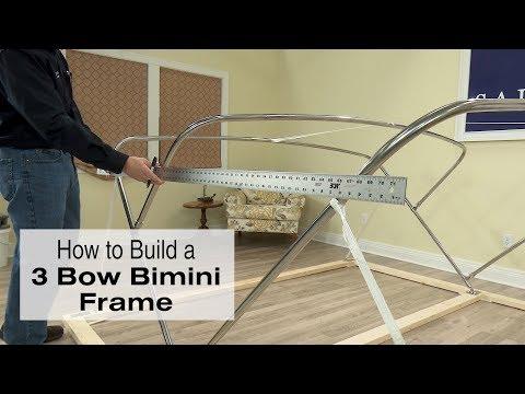 How to Build a 3 Bow Bimini Frame