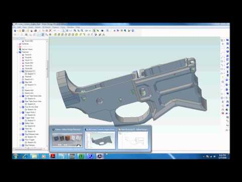 Software for designing and milling an AR-15 Lower from scratch