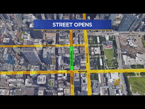 Wabash Avenue Reopens After CTA Station Construction