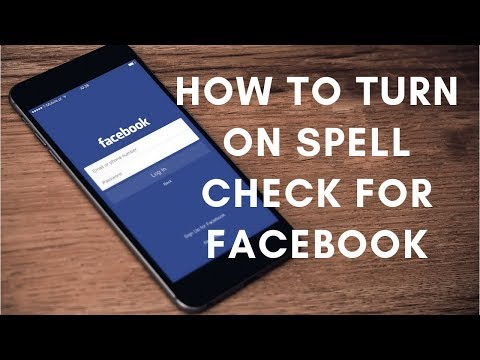 turn on spell check for Facebook chat and messages