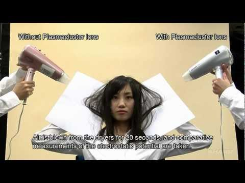 Demonstration of Reducing Static Electricity in Hair with Plasmacluster Ions
