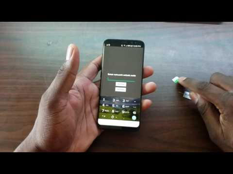 How to unlock the AT&T Samsung Galaxy S8!