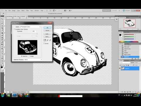 how to convert jpeg image to shape in photoshop CS5 VERY EASY
