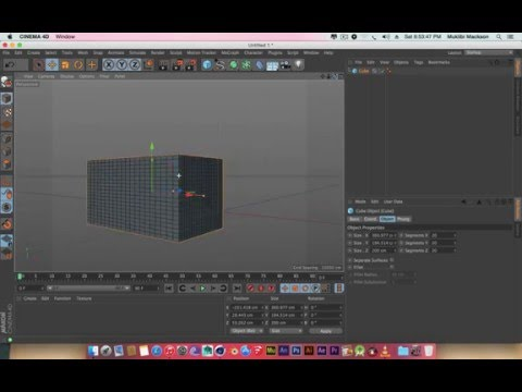 Cinema 4D(C4D) For Beginners 1 whats a 3D Object
