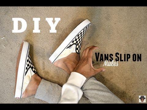 DIY || Vans Slip On Mules
