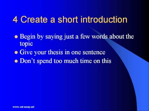 sat essay writing section tips