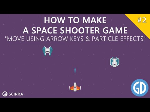 2. Creating A Space Shooter Game (Move using arrow keys & Particle Effects) Construct 2 Tutorial
