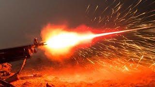 (4K) EPIC Machine Gun Night Shoot at the Knob Creek Gun Range