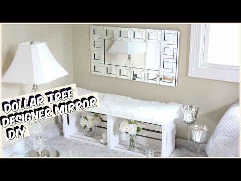 GLAM DOLLAR TREE MIRROR DIY