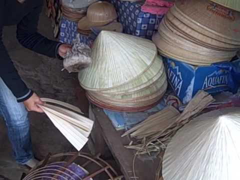 Making Bamboo Hat in Vietnam