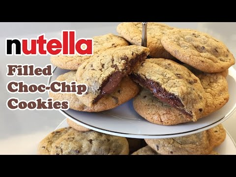 Nutella Filled Chocolate Chips Cookies - Cheeky Crumbs
