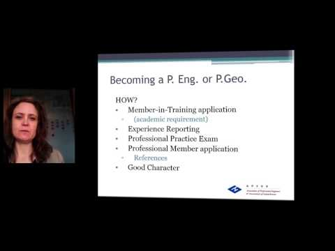 How to Become a P.Eng. or P.Geo. - Brief Overview