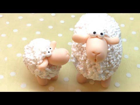 Sheep/ Ovelha - Polymer clay (Fimo) Tutorial