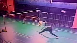 Watch this pet cat's incredible badminton shot while playing with owner