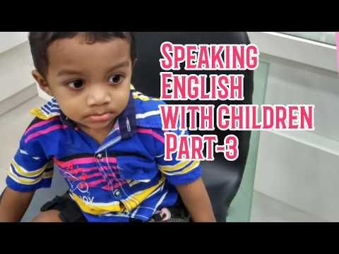 How to speak English with my child|Speaking English with children|English speaking.