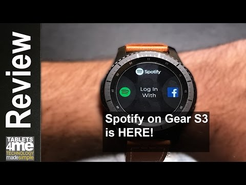 Samsung Gear S3 Frontier & Classic: SPOTIFY IS HERE! But for Premium  user ONLY!